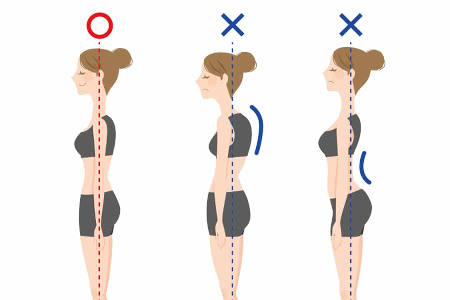 原因5:猫背などの姿勢の悪さがバストに悪影響
