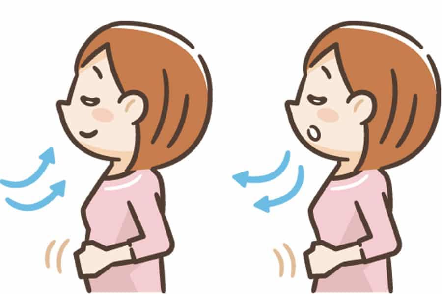 4.腹式呼吸